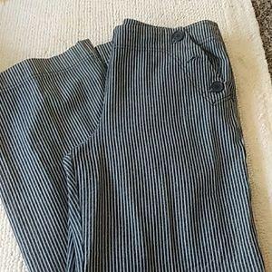 Larry Levine striped wide leg pants